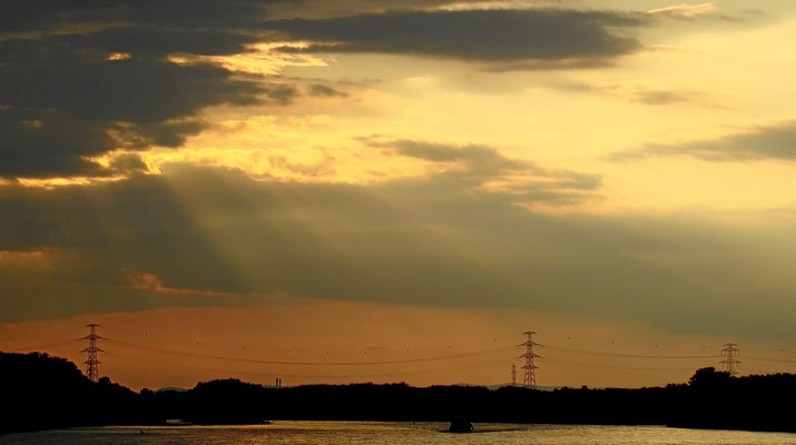 Sonnenuntergang auf der Donau