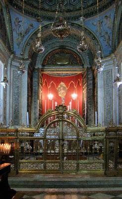 die Kapelle der Hl. Rosalia, in der ihre sterblichen Überreste ruhen