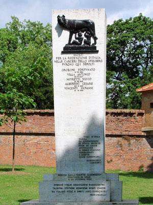 Carbonari-Denkmal auf dem Hügel Spielberg
