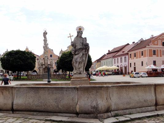 Brunnen mit der Statue der heiligen Margareta