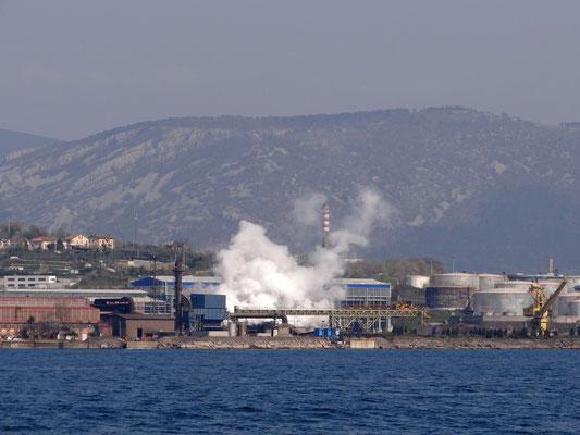 das Industriegebiet