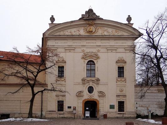 Bestandteil des Prager Prämonstratenser-Klosters Strahov ist schon seit dem Mittelalter die Klosterbibliothek