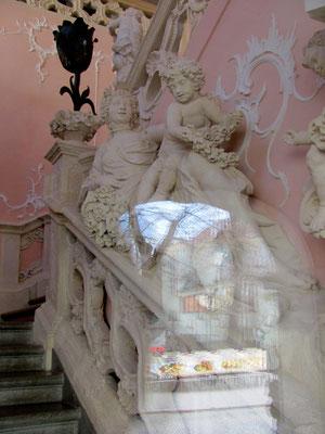 Blick ins Treppenhaus der Stadtburg