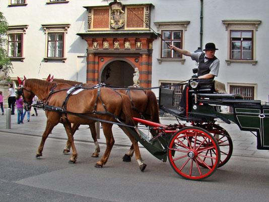 Fiaker vor dem Schweizer-Tor