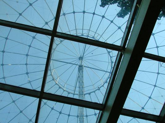 Die Dachkonstruktion der Gasometer-Gebäude ist eine sogenannte Schwedlerkuppel. Konstruiert nach dem System des Berliners Johann Wilhelm Schwedler