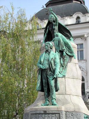Denkmal des Dichters France Prešeren