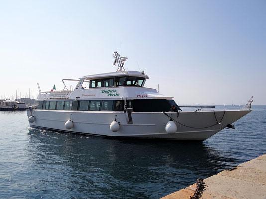 mit dem Ausflugsboot von Triest nach Muggia