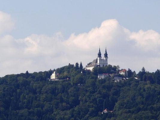 Blick zur Pöstlingbergkirche vom Höhenrausch aus