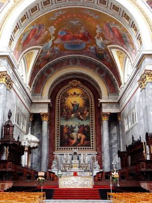 Altarbild auf Leinen gemalt - Mariä Himmelfahrt von M.Grigoletti - 1856
