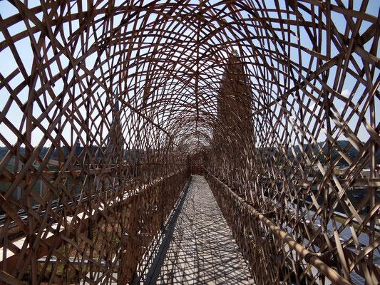 im Gang zur Bambuskuppel