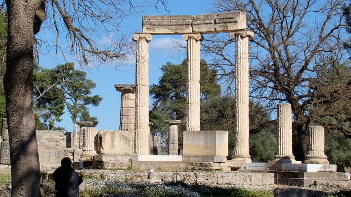 die Tholos von Olympia
