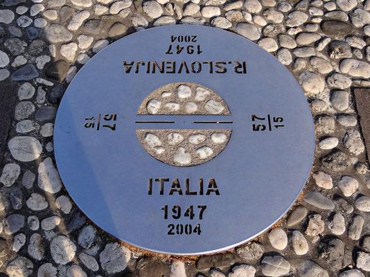 ein Fuß in Italien, den anderen in Slowenien