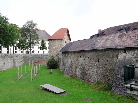 der Stadtgraben wird jetzt als Park und Spielfläche genützt
