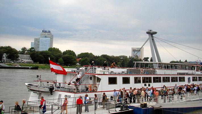 Aufwiedersehen ... die MS Admiral Tegetthoff bringt uns wieder nach Wien