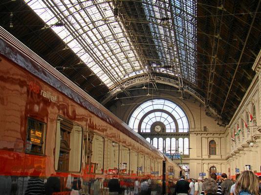 Ankunft mit dem Railjet aus Wien