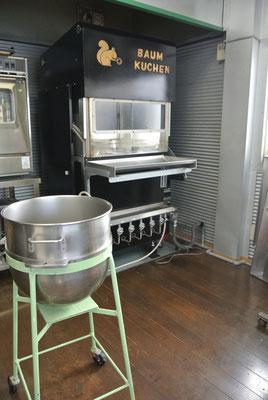 バームクーヘンオーブンのデモができるホップ技研