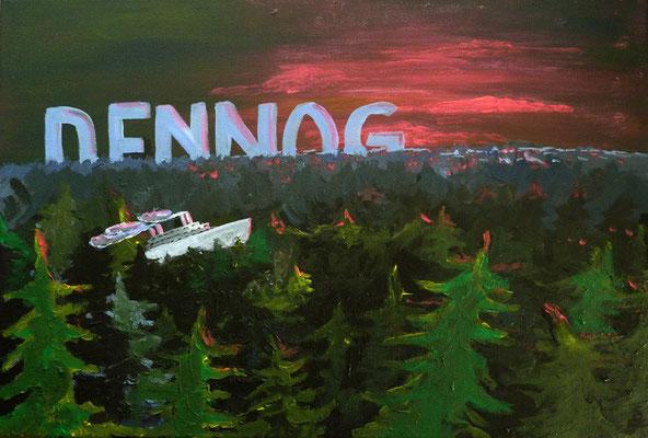 """""""Dennog"""", Acryl auf Leinwand, 60 x 40 cm"""