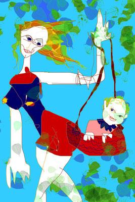 """aus der Serie """"Kunst mit Kind"""""""