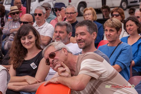 Aurélie Brunel, Julien Sagné, Bernard Capdepuy (Conseiller municipal de Quinsac) bénévoles du Festival JAZZ360, Swing Home Trio, Camblanes-et-Meynac. 08/06/2019