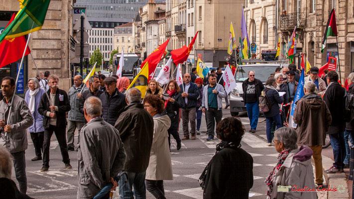 11h03 Fin du cortège avec le Parti des travailleurs du Kurdistan (Partiya Karkerên Kurdistan), rue du Docteur Nancel-Pénard-place Gambetta, Bordeaux. 01/05/2018