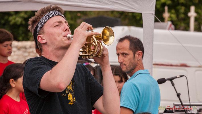 Trompette de poche. Big Band Jazz du Collège Eléonore de Provence, dirigée par Rémi Poymiro. Festival JAZZ360 2018, Cénac. 08/06/2018