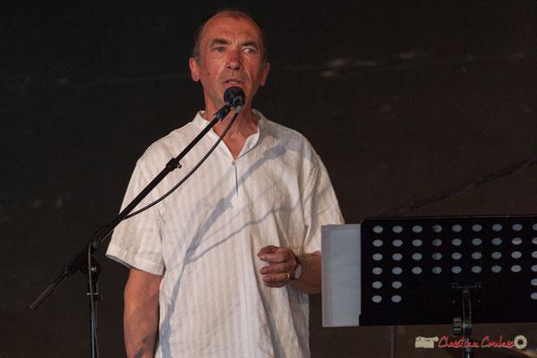 Olivier Verger. Ensemble vocal Semailles. Concert de soutien des Insoumis de la 12ème circonscription de la Gironde. 28/05/2017, Targon