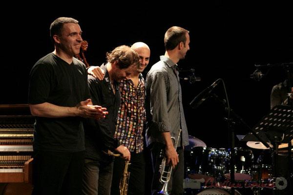 Jean-Yves Jung, Frédéric Borey, Mauro Gargano, Sylvain Gontard; Roger Biwandu Quintet, Festival JAZZ360 2011, Cénac. 03/06/2011