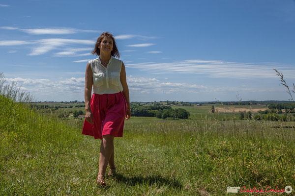 Anne-Laure Fabre-Nadler, candidate aux élections législatives 2017 Europe Ecologie les Verts / Parti Socialiste. Castelviel, 16 mai 2017