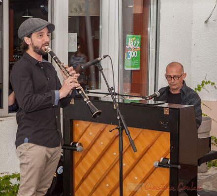 Denis Girault, Fred Lasnier, Louisiana Jazz Duo. Festival JAZZ360 2016, restaurant les Acacias, Cénac