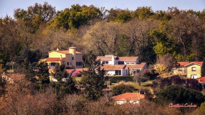 Quartier Pujade, Cénac (détail). Dimanche 5 avril 2020. Photographie panoramique : Christian Coulais