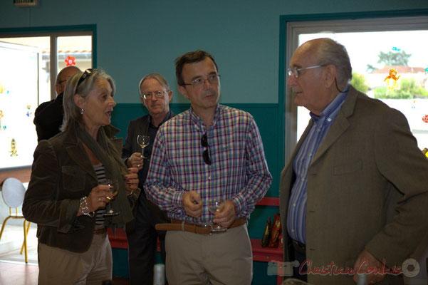 Simone Ferrer, Maire de Cénac, Lionel Faye, Maire de Quinsac; Guy Trupin, Maire de Camblanes-et-Meynac. Festival JAZZ360 2012, Cénac, samedi 9 juin 2012