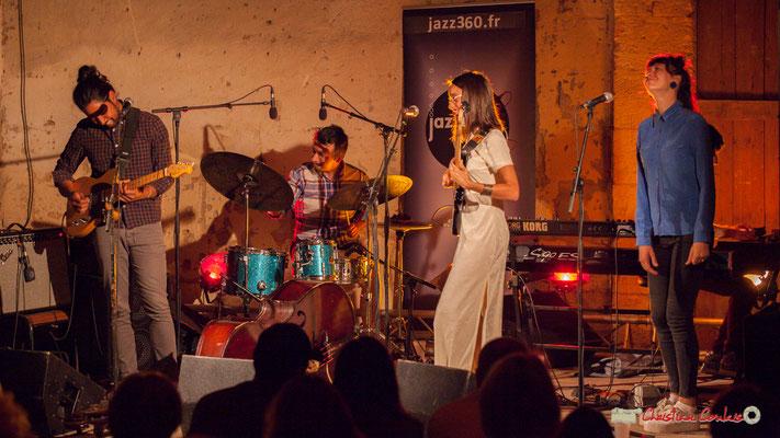Johary Rakotondramasy, Nicolas Girardi, Laure Sanchez, Caroline Turtaut; Laure Sanchez Quintet, JAZZ360 au Domaine de Sentout, Lignan-de-Bordeaux. 08/09/2018