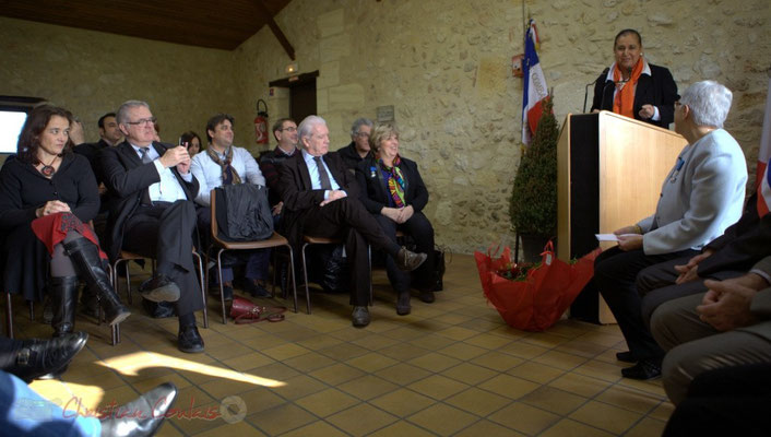 Mathilde Feld, Présidente de la CDC du créonnais, Jean-Marie Darmian, Vice-président du Conseil général, Nicolas Tarbes, Maire de Saint-Léon, Philippe Madrelle, Françoise Cartron, Martine Faure