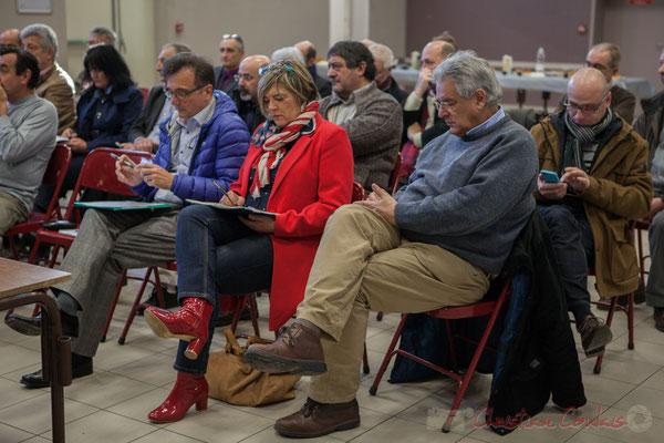 Lionel Faye, Président de la CDC des Portes de l'Entre-Deux-Mers; Catherine Veyssy, Vice-présidente du Conseil régional; Pierre Gachet, Maire de Créon