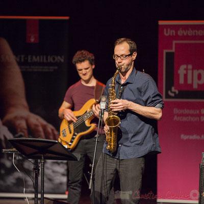 Ouriel Ellert, Julien Dubois, quartet Le JarDin. Tremplin Action Jazz 2017. Le Rocher de Palmer