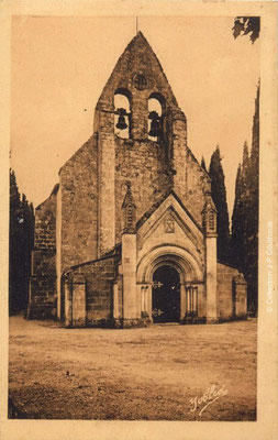 L'église Saint-André 1929-1939. Cénac d'antan. Collection Jean-Pierre Couthouis