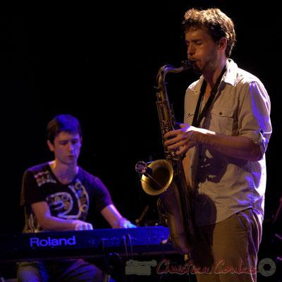 Philippe Gueguen, Paul Robert; Edmond Bilal Band, Festival JAZZ360 2013, Cénac. 07/06/2013