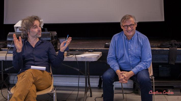 Laurent Vanhée, nouveau Président de l'association JAZZ360 et Richard Raducanu. Cénac, samedi 1er février 2020