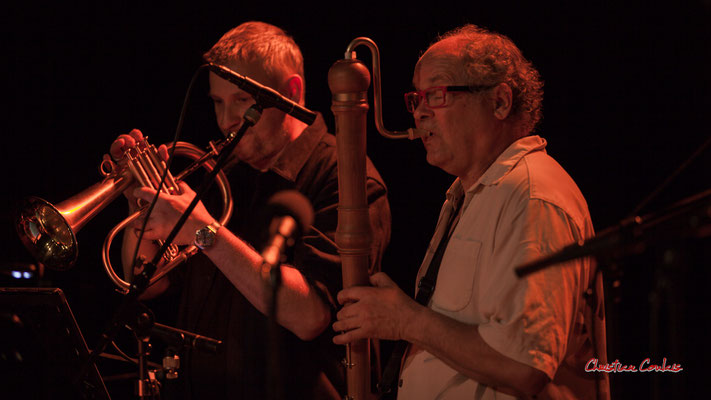 Régis Lahontâa, Christian Paboeuf ; Christian Paboeuf Quartet. Festival JAZZ360 2021, Cénac, samedi 5 juin 2021. Photographie © Christian Coulais