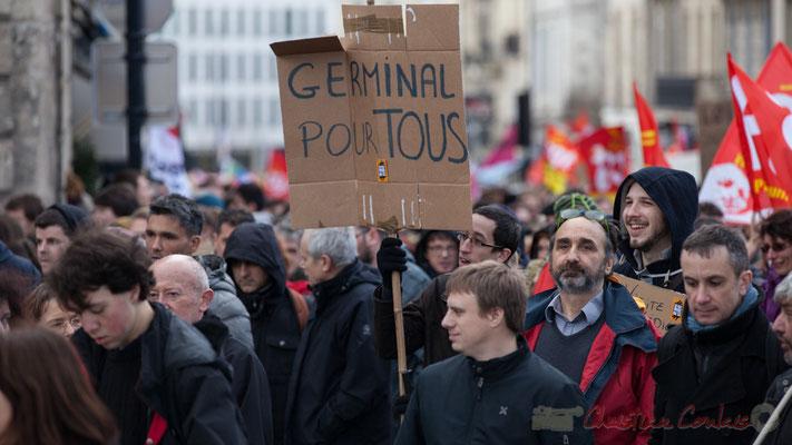 """14h35, """"Germinal pour tous"""". Place Gambetta, Bordeaux"""