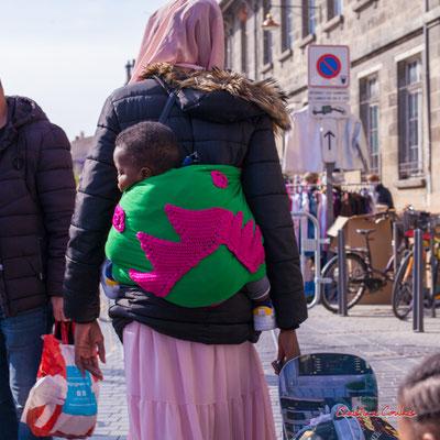 """2/2 """"P'tit bout"""" Marché Saint-Michel, Bordeaux. Samedi 6 mars 2021. Photographie © Christian Coulais"""