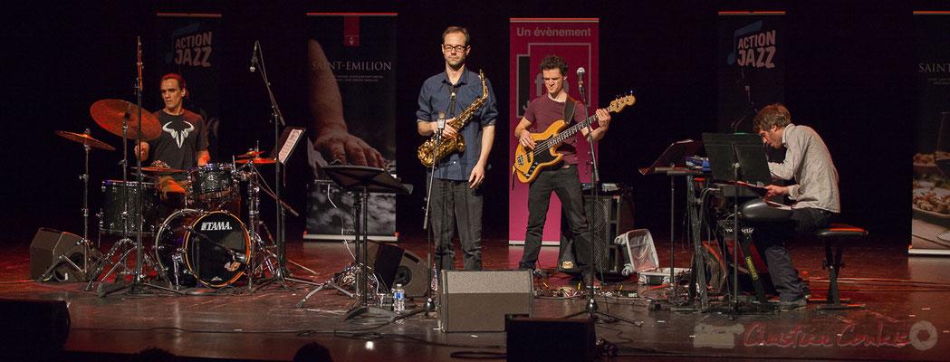 1 Gaétan Diaz, Julien Dubois, Ouriel Ellert, Simon Chivallon, quartet Le JarDin. Tremplin Action Jazz 2017. Le Rocher de Palmer
