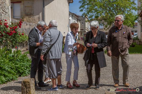 (Centre) Françoise Guimont, Maire de Lignan-de-Bordeaux (1984-2014). Tous avec Martine...Faure et Jean-Marie Darmian pour fêter 10 ans de députation et un jubilé d'engagements politiques. 14 mai 2017, Blasimon
