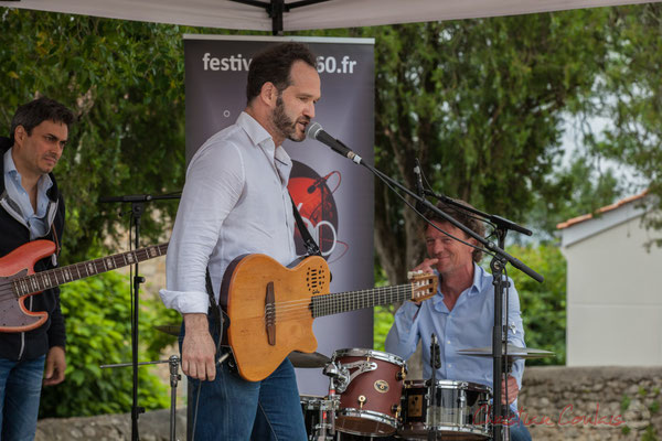 Nicolas Mirande, Jean Lassallette, Christophe Léon Schelstraete, Taldea Group. Festival JAZZ360 2016, Quinsac, 12/06/2016