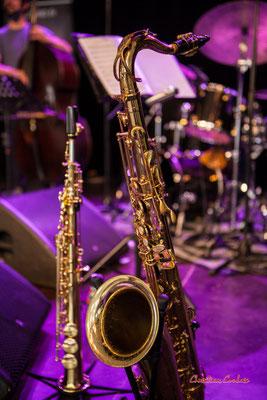 Saxophone ténor de Camille Maussion. Festival JAZZ360, Cénac. Samedi 5 juin 2021. Photographie © Christian Coulais