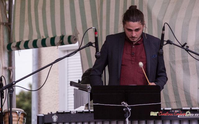 Félix Robin; Big Band du Conservatoire Jacques Thibaud. Festival JAZZ360 2019, parc du château de Pomarède, Langoiran. 06/06/2019