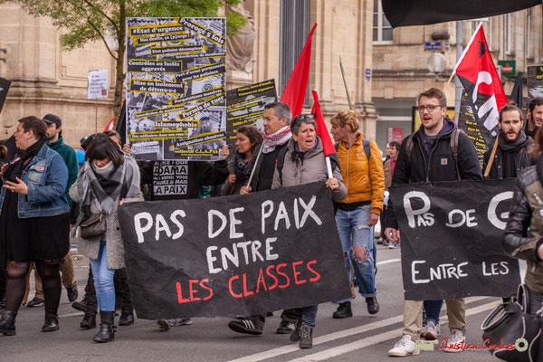 """10h37 Mouvement anarchiste / C.N.T. """"Pas de paix entre les classes"""" Cours d'Albret, Bordeaux. 01/05/2018"""