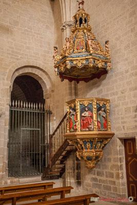 Chaire baroque de l'église Sanctuaire-Forteresse de Santa María de Ujué / Silla Barroca de la Iglesia Santuario-Fortaleza de Santa María de Ujué, Navarra