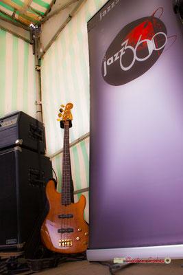 Festival JAZZ360 2019, 10ème anniversaire. Guitare basse de Romann Dauneau, Langoiran. 06/06/2019