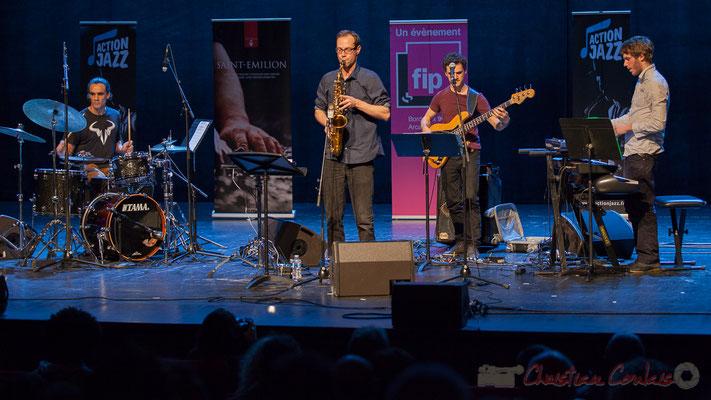 7 Gaétan Diaz, Julien Dubois, Ouriel Ellert, Simon Chivallon, quartet Le JarDin. Tremplin Action Jazz 2017. Le Rocher de Palmer